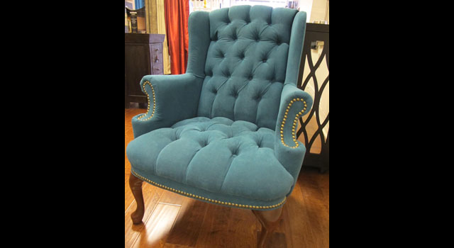 wingback low pile tufted